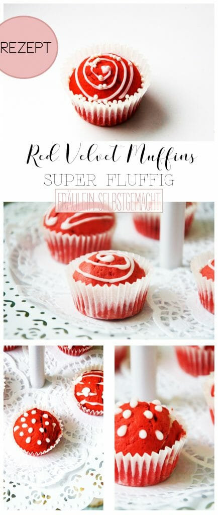 Red Velvet Muffins Pinterest Pin