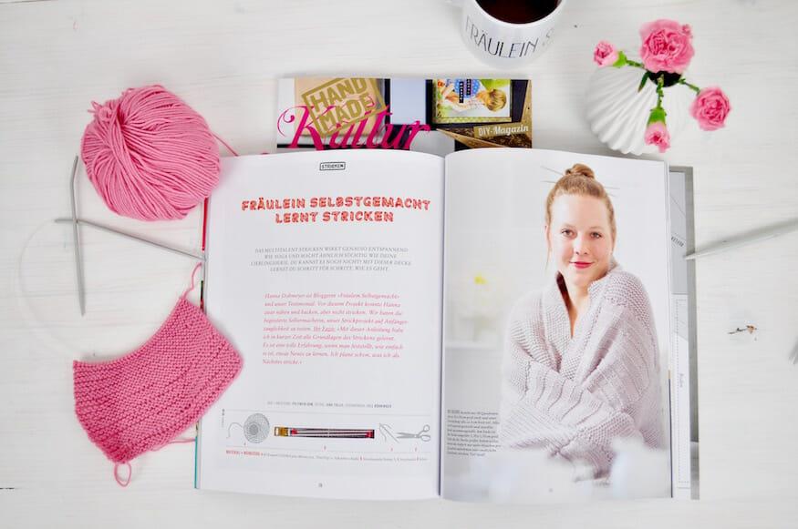 Stricken lernen mit der Handmadekultur - Fräulein Selbstgemacht