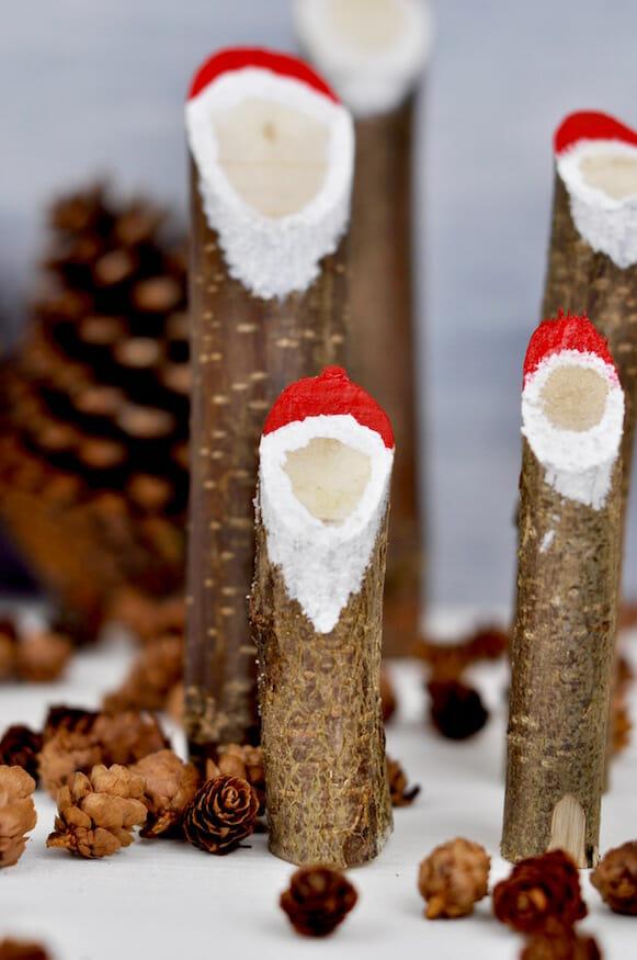 Weihnachtsdekoration Basteln - Holz Weihnachtsmänner - Fräulein