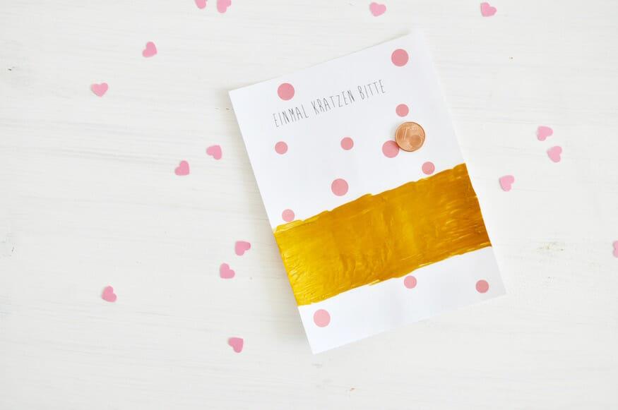 Rubbellose einfach Selbermachen - Anleitung von Fräulein Selbstgemacht