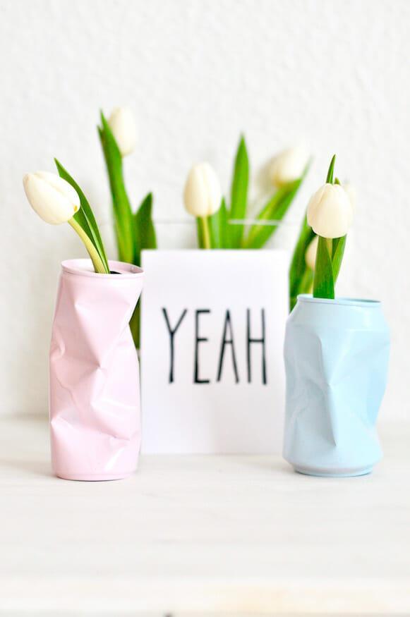 Vase aus Blechdose von Fräulein Selbstgemacht
