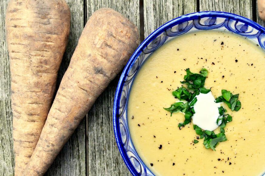 Rezept für Pastinakensuppe und Frischepost