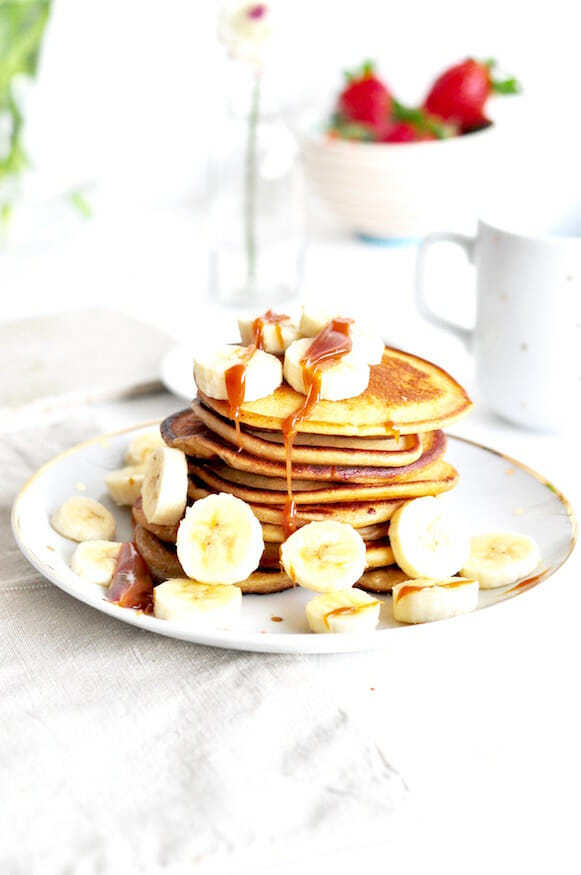 Rezept für selbst gemachte Karamell Pancakes von Fräulein Selbstgemacht