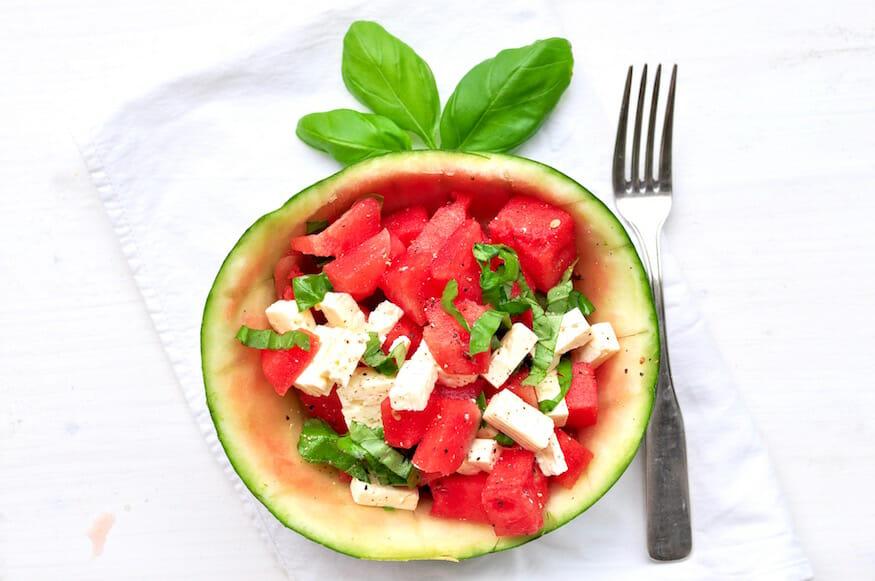 Melone Feta Salat von Fräulein Selbstgemacht