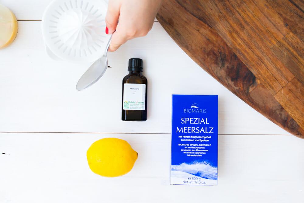 Materialbild Zitronen-Salz Peeling