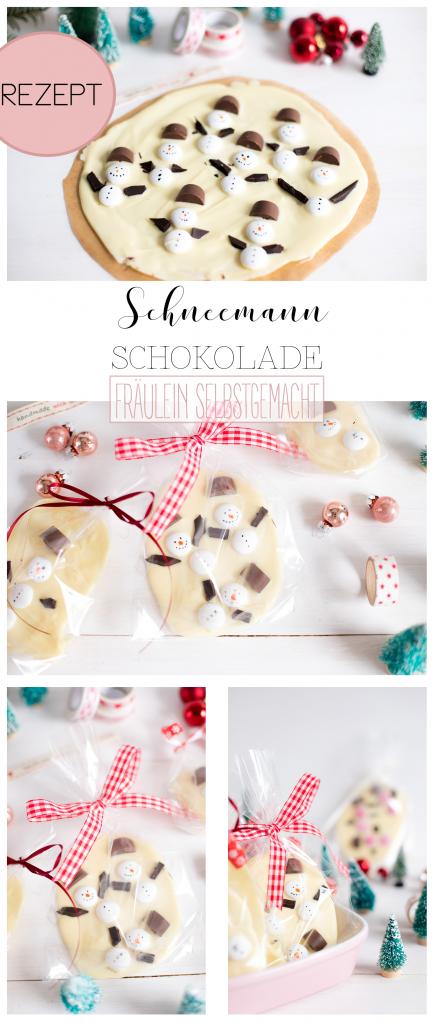 Schneemann Schokolade Pinterest Pin