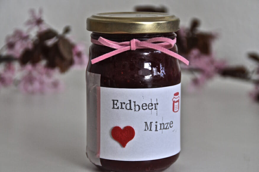 Erdbeer Pfefferminz Marmelade