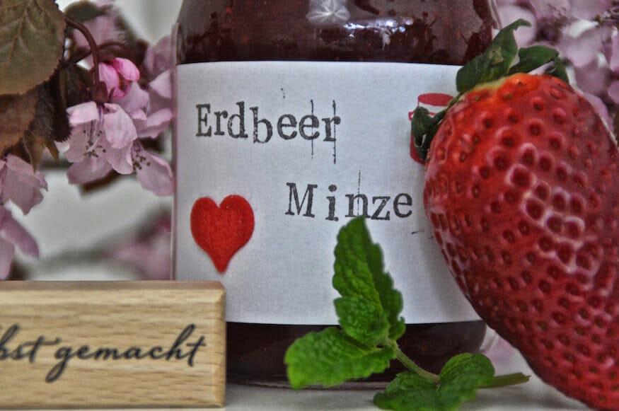 Erdbeere Pfefferminze Marmelade