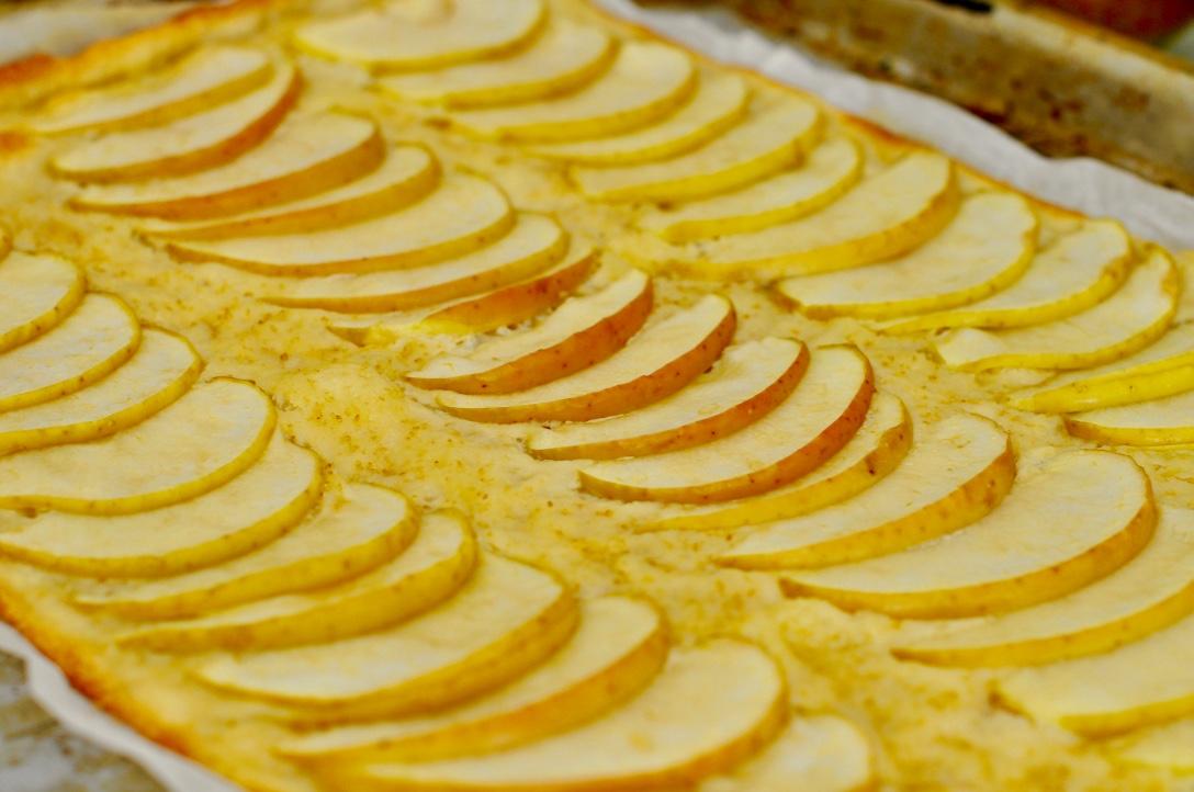 Apfel Flammenkuchen Blech
