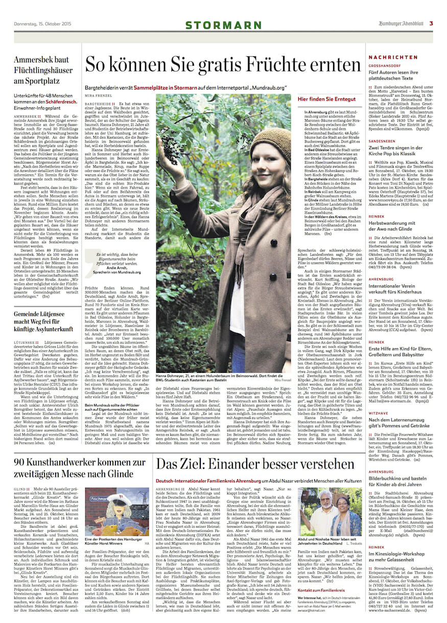 Fräulein Selbstgemacht im Hamburger Abendblatt