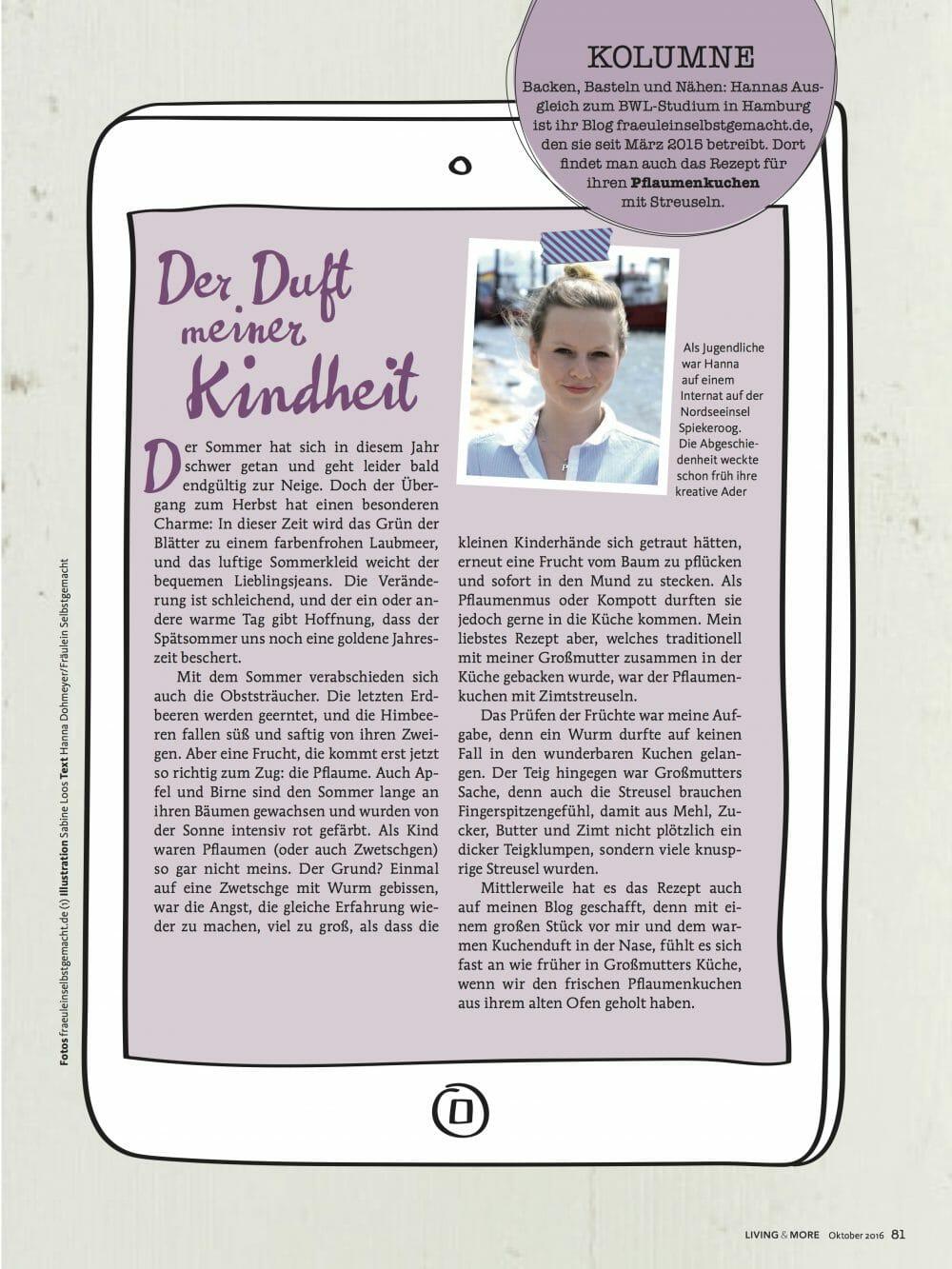 Fräulein Selbstgemacht in der Living & More