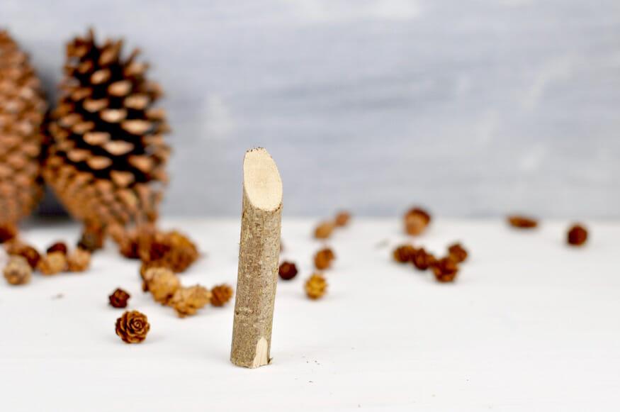Bastelanleitung für Weihnachtsmänner aus Holz
