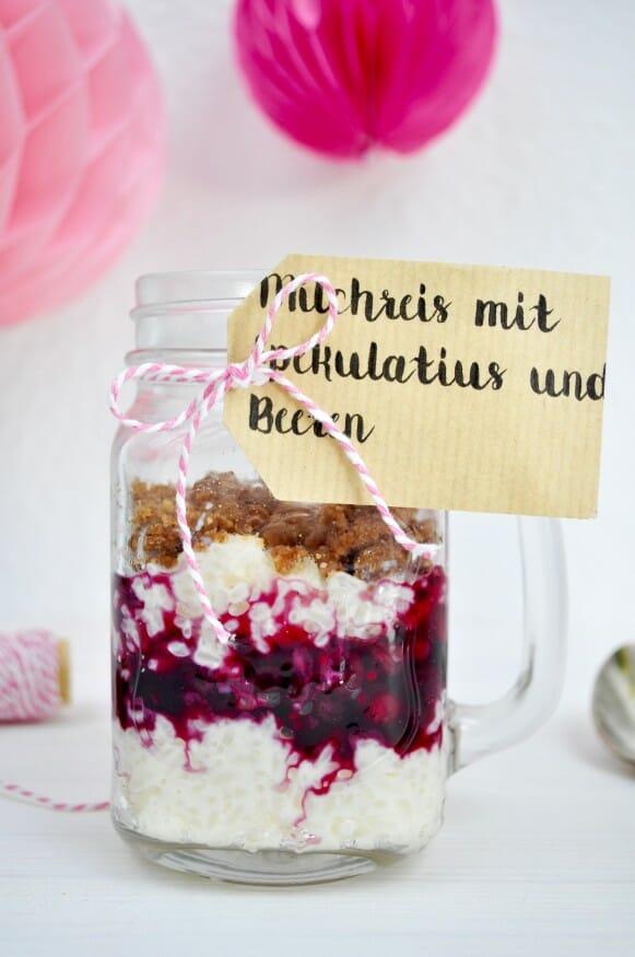 Milchreis mit Spekulatius und Beeren von Fräulein Selbstgemacht