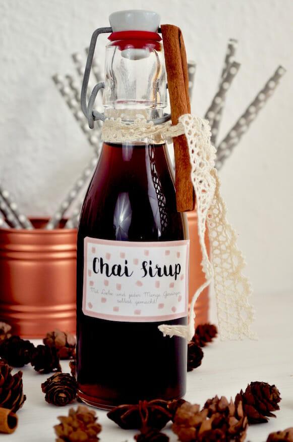 Leckerer Chai Sirup selbst gemacht von Fräulein Selbstgemacht