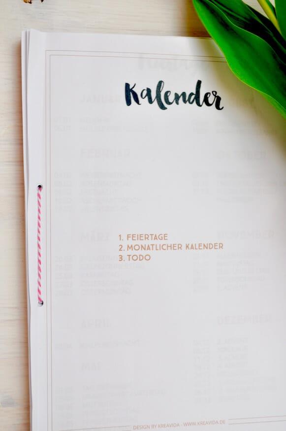 Kalender 2016 Empfehlungen und Vorschläge
