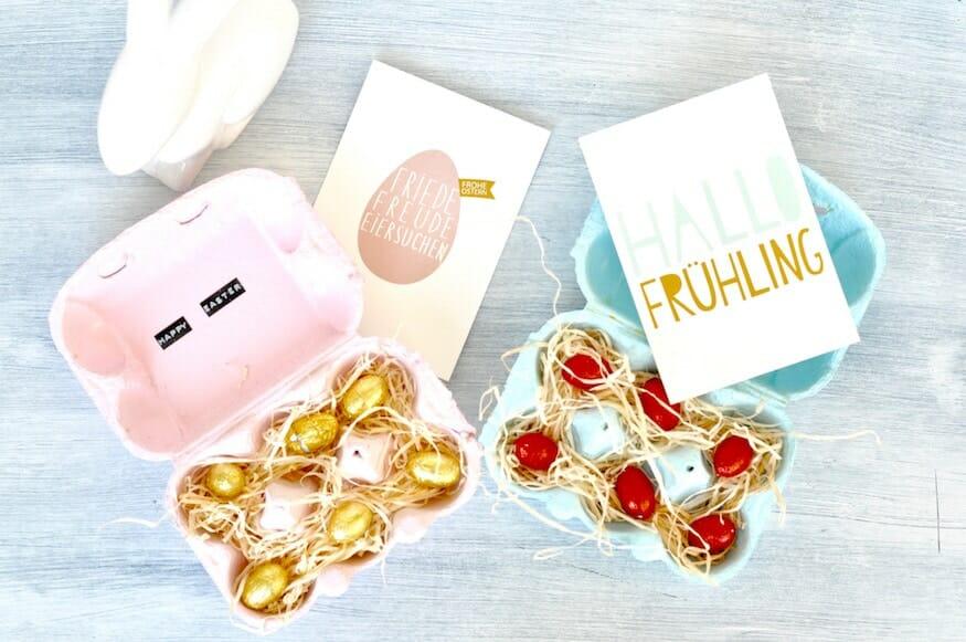 Eierkarton Verpackung für Ostern von Fräulein Selbstgemacht