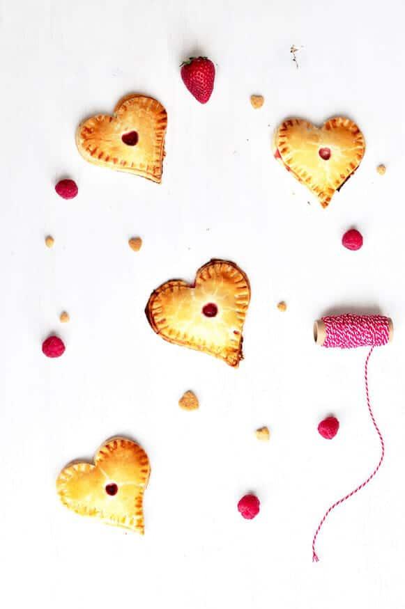 Vier kleine Herzpies