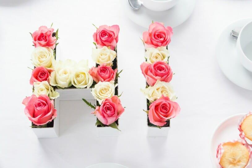 Decorize Fruhling Blumen Tischdeko Buchstaben 9 Fraulein