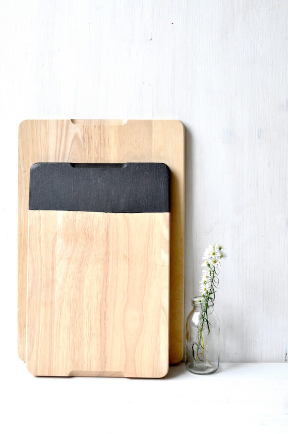 Holzbretter mit Tafelfarbe von Fräulein Selbstgemacht