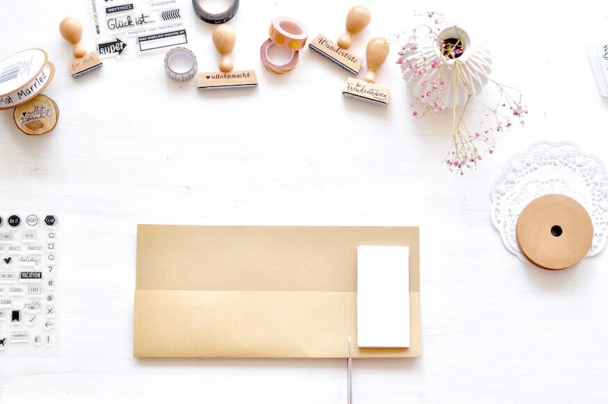 Hochzeits DIY für Freudentränen - Taschentücher Aufbewahrung - Basteln zur Hochzeit
