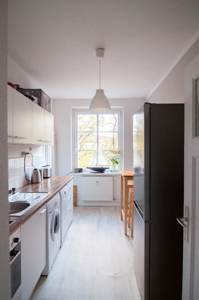 Eine frisch gestrichene Küche - erste Einblicke