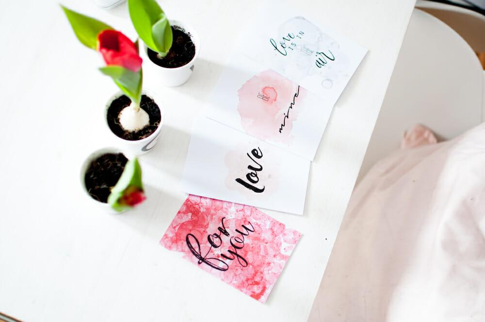 Karten zum Valentinstag von Fräulein Selbstgemacht