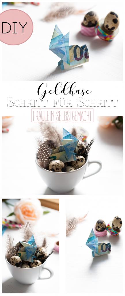 Geldgeschenke zu Ostern - Ein Geldhase ist schnell gefaltet und bereite dem beschenkten doppelt Freude!
