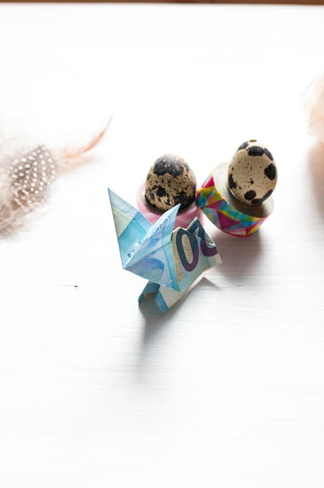 Ein Geldhase zu Ostern. Ganz einfach einen Geldschein Hasen basteln.