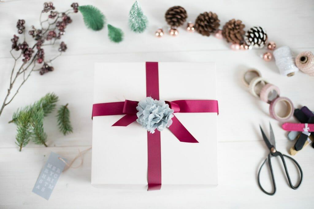 deko auf geschenken