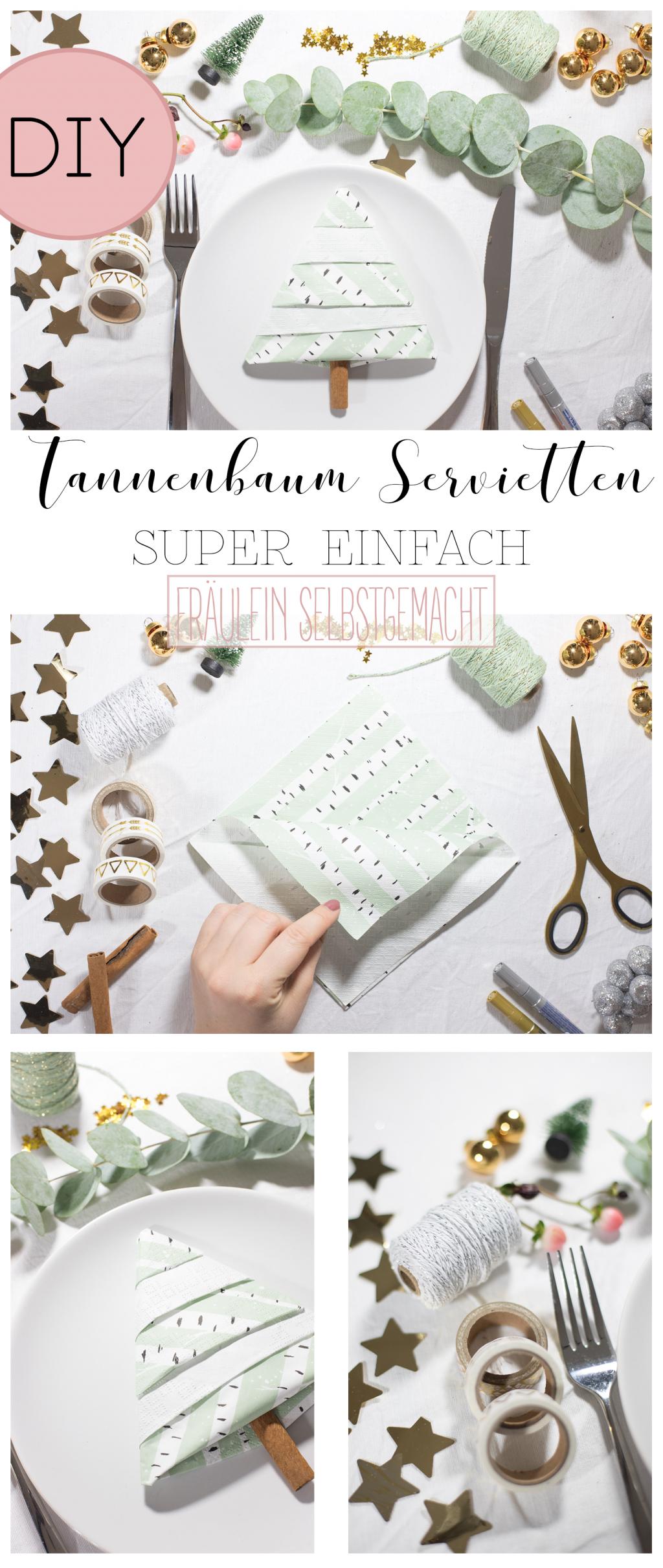 Tannenbaum Servietten Falten Pinterest Pin Fräulein