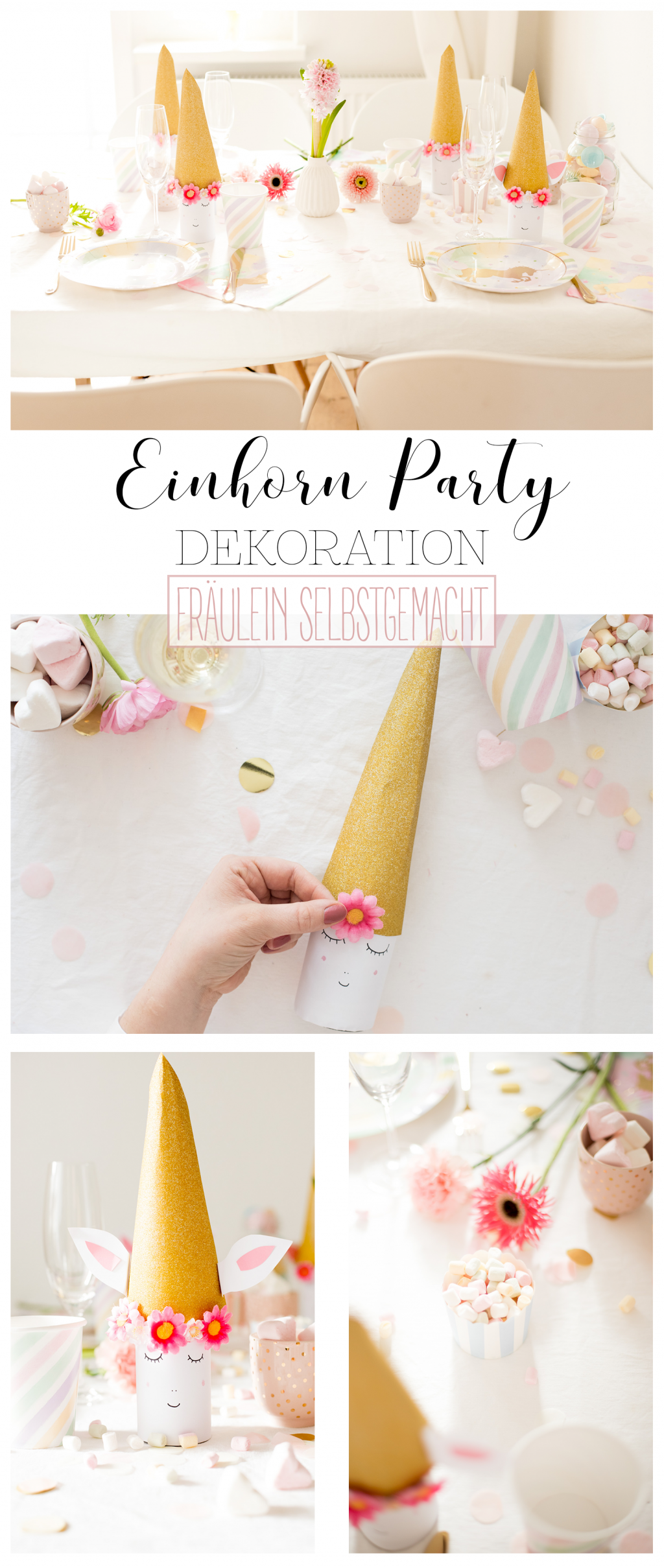 einhorn party dekoration pinterest pin fr ulein. Black Bedroom Furniture Sets. Home Design Ideas