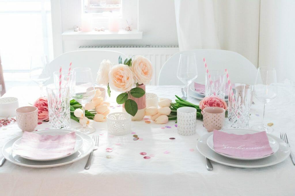Tischdekoration Zum Valentinstag Inspirationen Herangehensweise