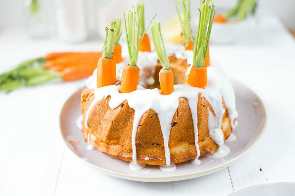Karottenkuchen mit Cheesecake Füllung