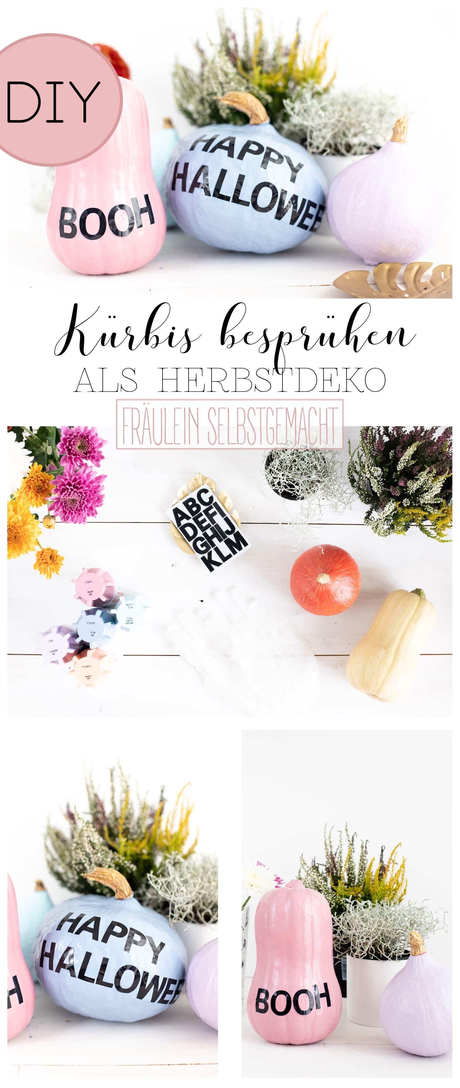 deko-kürbis-besprühen-als-herbstdekoration-pinterest