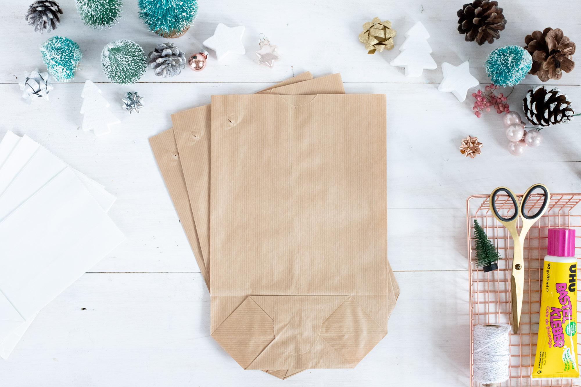 weihnachtsstern selber basteln aus kraftpapiert ten. Black Bedroom Furniture Sets. Home Design Ideas
