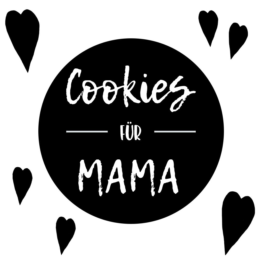 Cookies zum Muttertag Plotterdatei schwarz