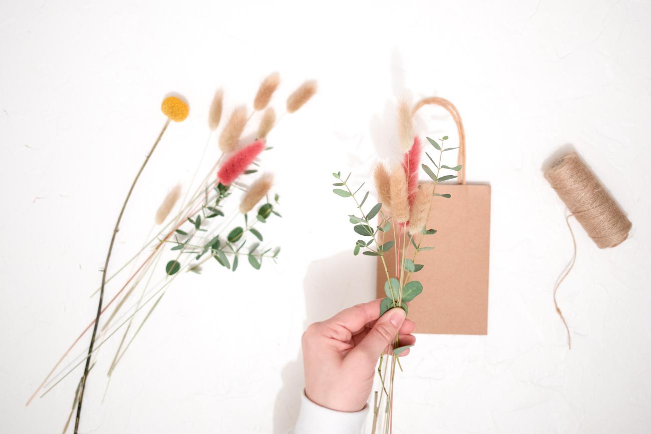 Trockenblumen Verpackung
