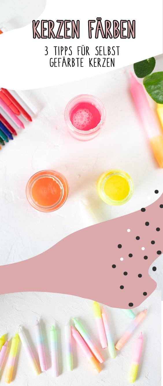 Kerzen färben - Tipp Nr.2 Erwärmen