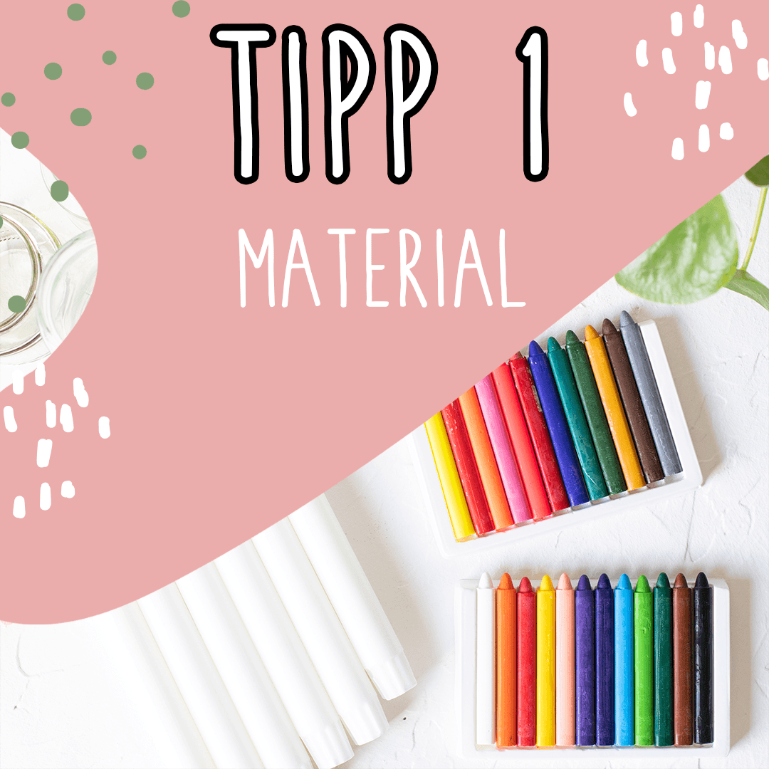 Kerzen färben - Tipp Nr.1 Material