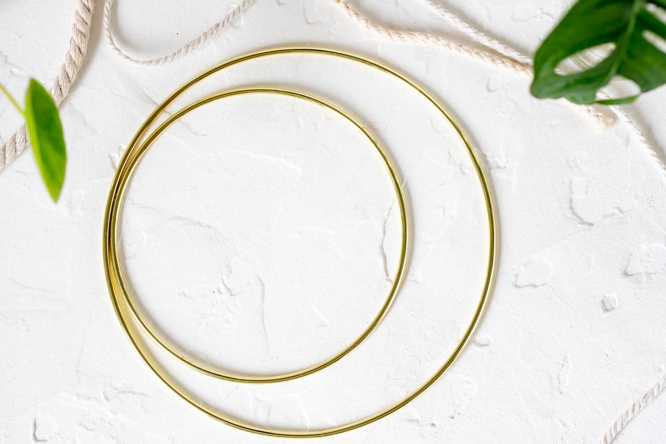 Metallring in Gold für Makramee Traumfänger